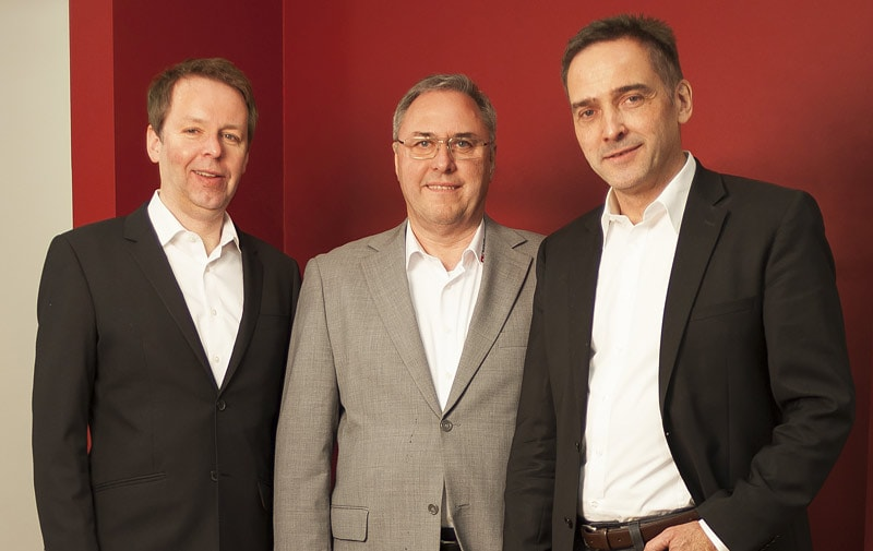 The company founders and managing directors Felix Buß, Harald Butenuth and Andreas Diekmann.